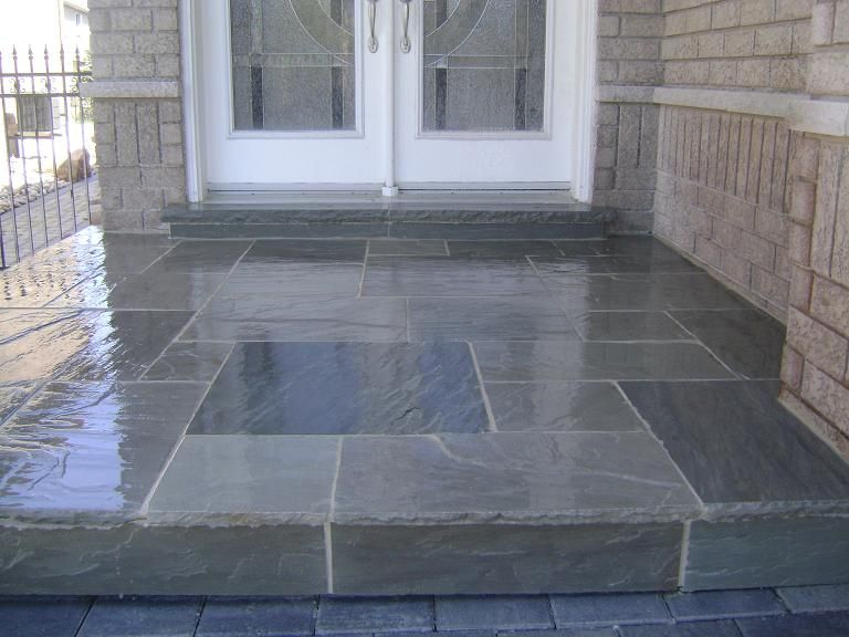 Flagstone Front Porch Google Search Patio Landscaping