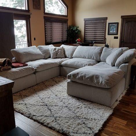 Best Bryant U Sofa Bumper Sectional 5 Piece Living Room 640 x 480