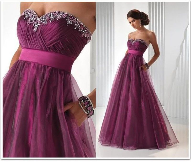 New hot Custom Stock Long Evening Party Bridesmaid Dress Formal Dress Ball Gown #NEW #Fashion #Formal