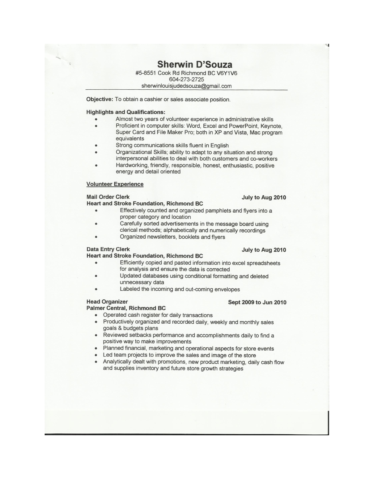 Sales Associate Resume Sample - http://www.resumecareer.info/sales ...