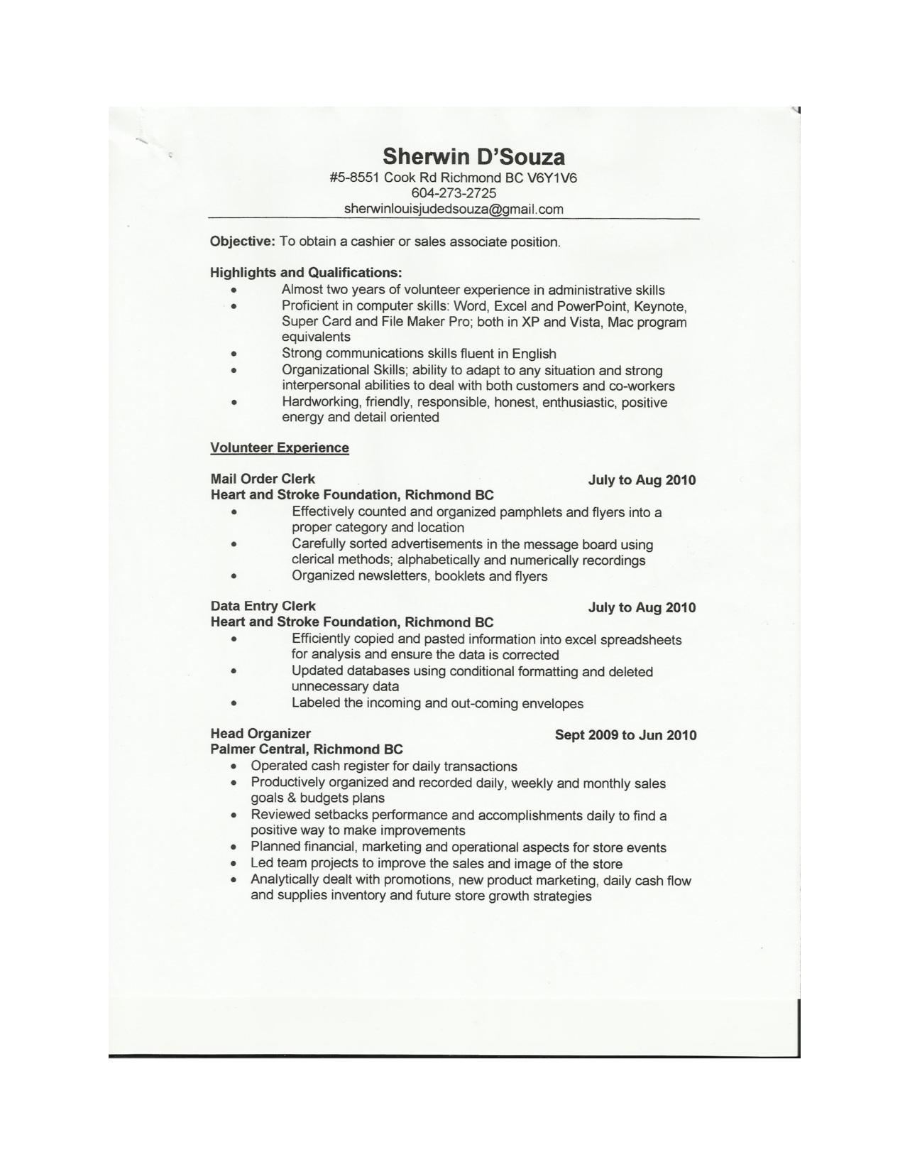 Cashier Resume Samples Job Resume Format Job Resume Template Resume Examples