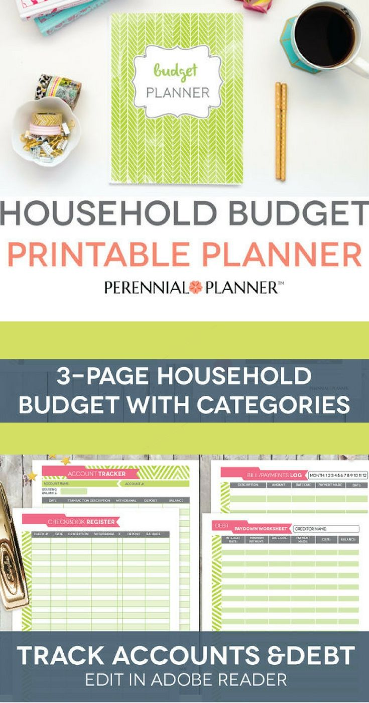 Budget Binder Printable Monthly Household Budget Form Financial