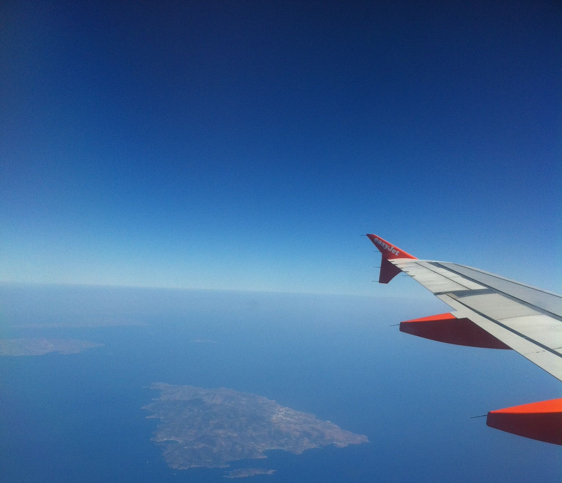 awesome view of Cyclades from plane