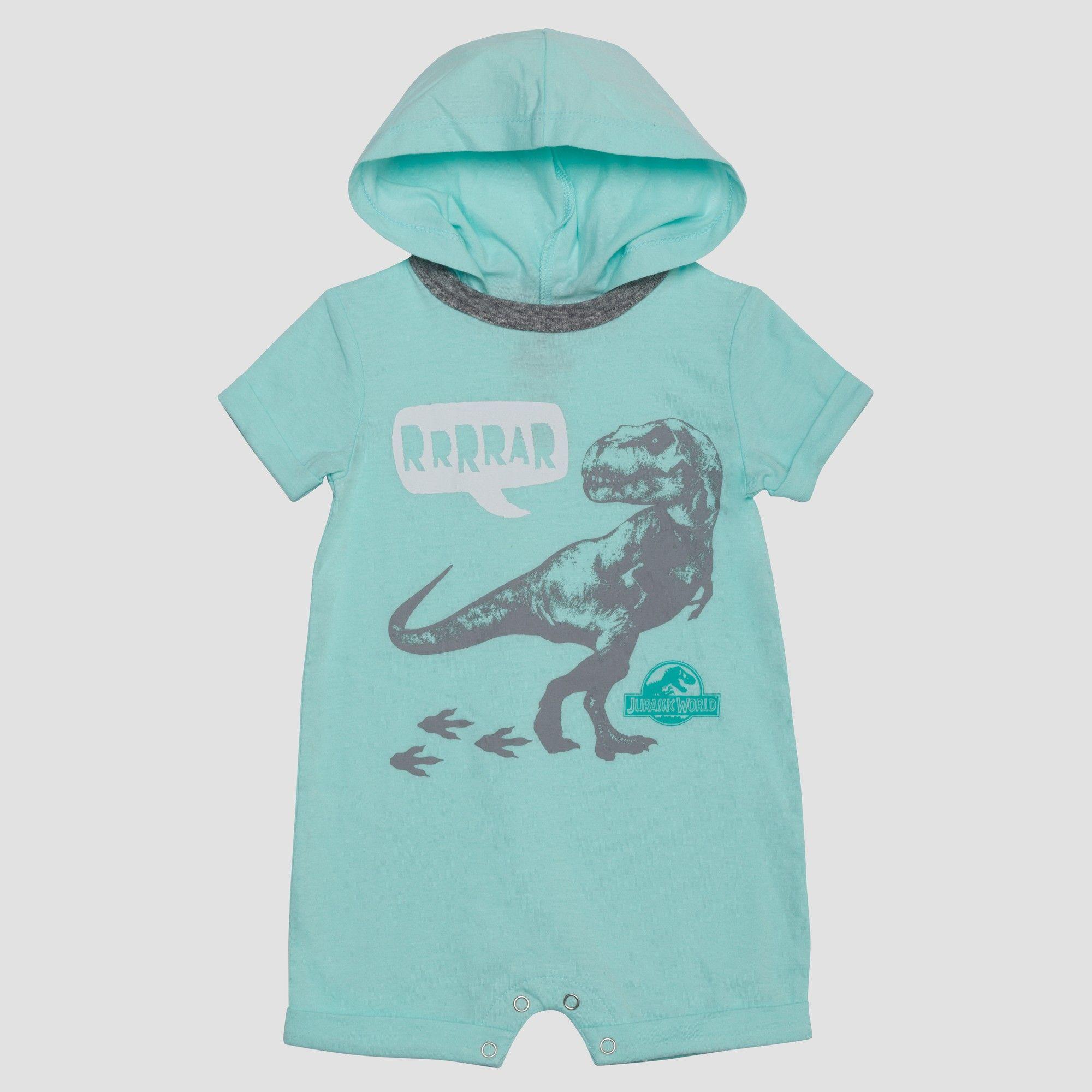 2e33c4c76 Jurassic World Baby Boys  Short Sleeve Hooded Romper - Blue 0-3M ...