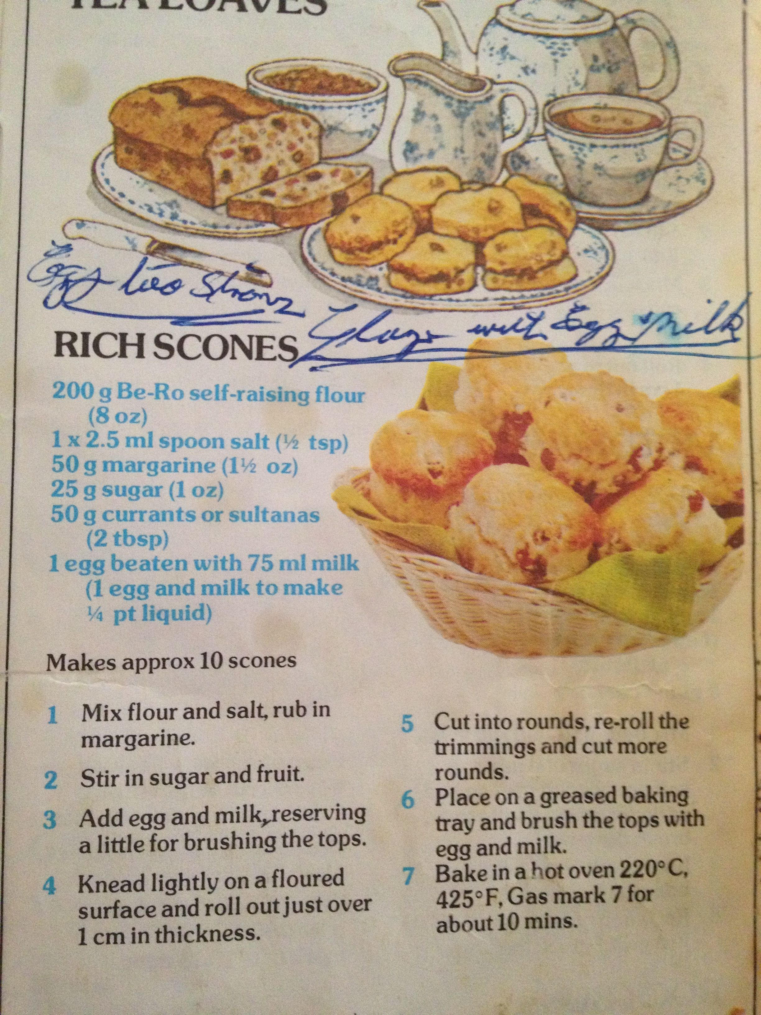 Fruit scones Be-Ro | Food in 2019 | Recipes, Vintage recipes, Cookbook recipes
