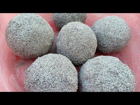 ASMR:Sand Cement Balls Crumble In Water 💦 ASMR:San