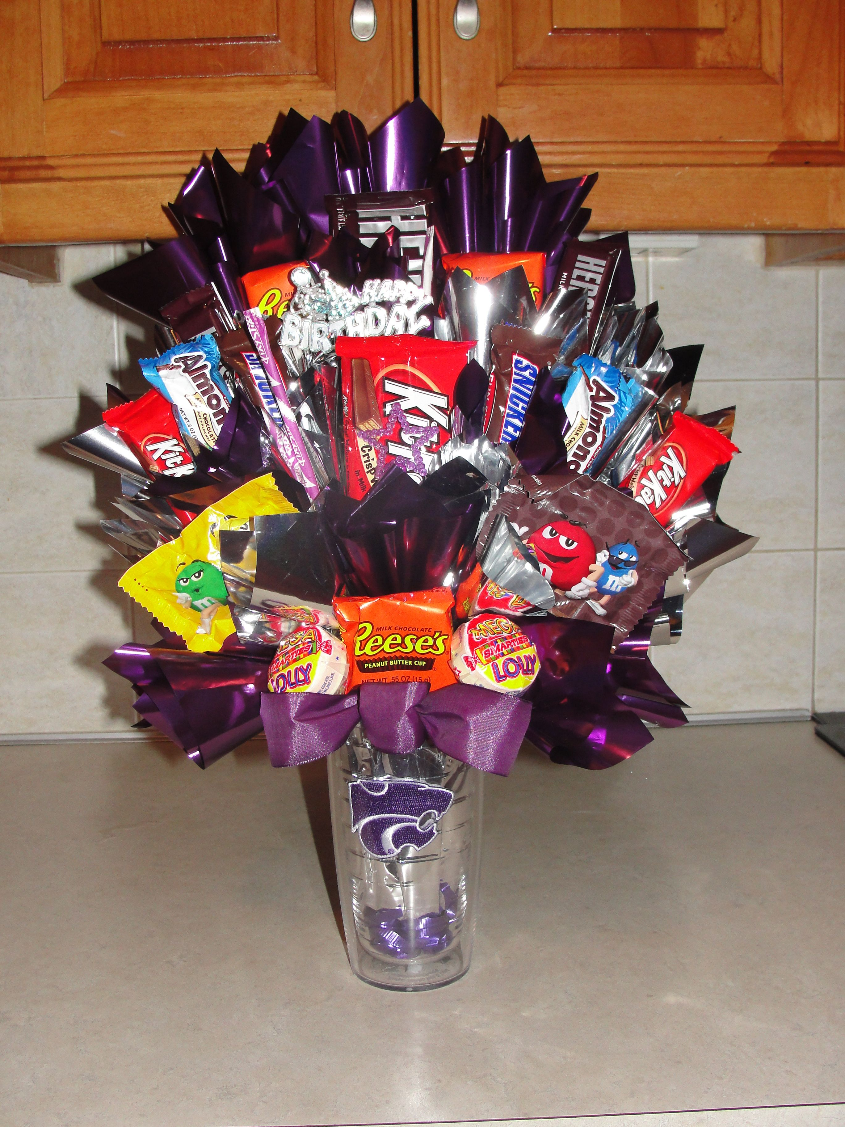Birthday gift for a coworker candy bouquet diy friend
