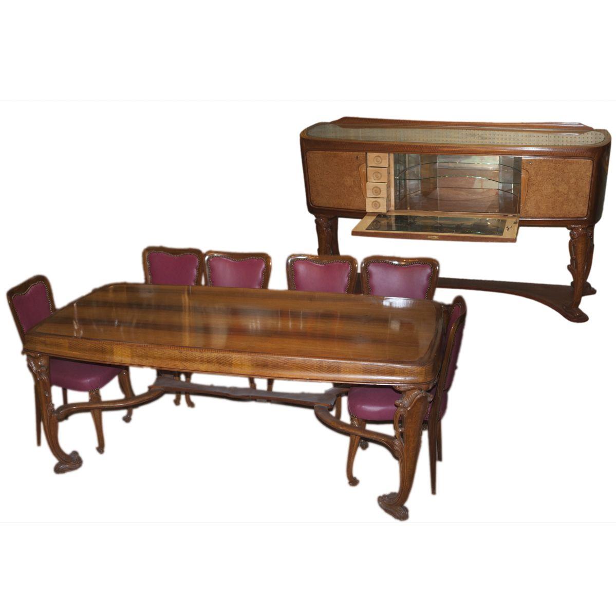 Pleasant Description Art Nouveau Dining Room Set Featuring A Large Uwap Interior Chair Design Uwaporg