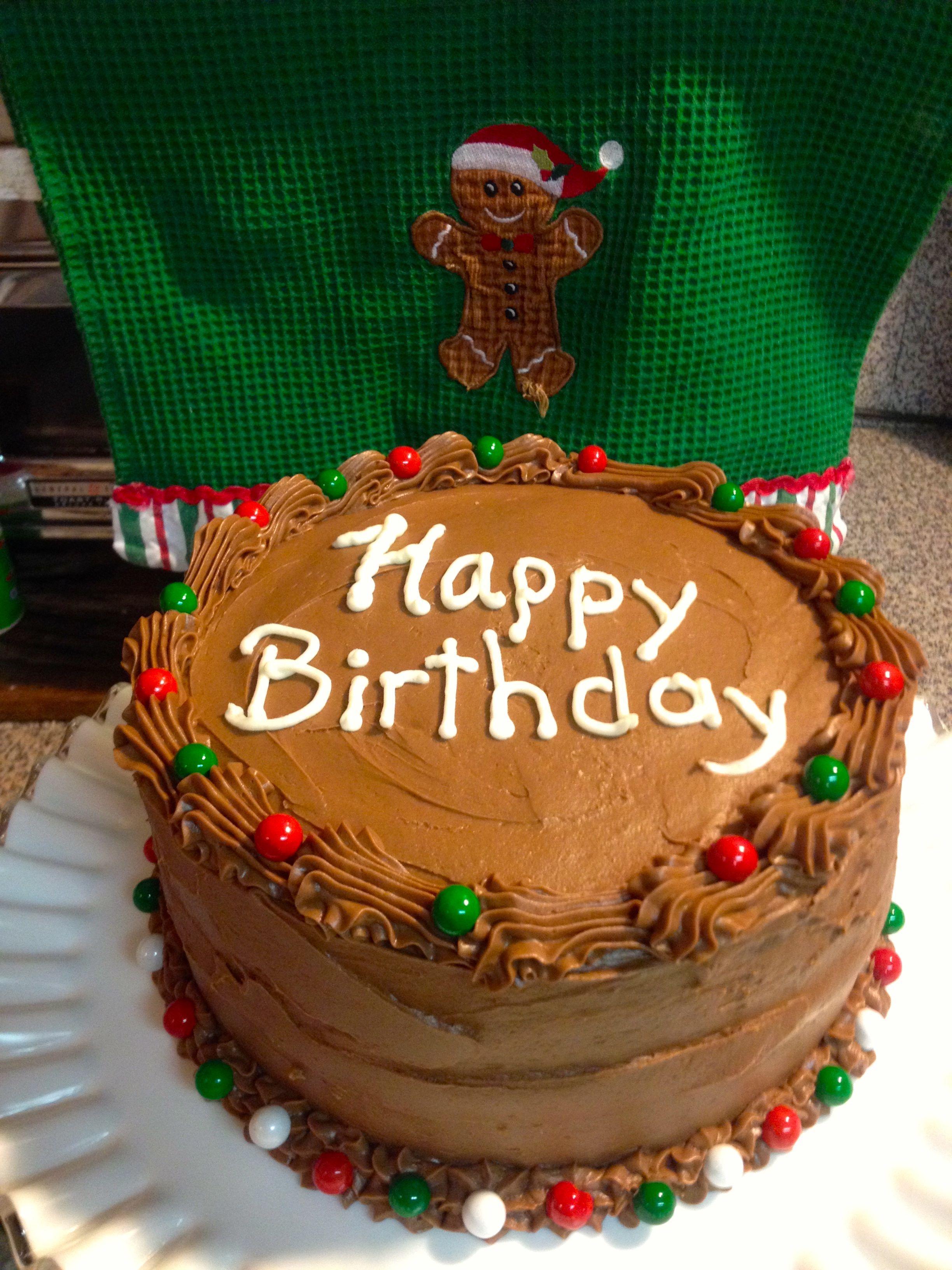 December Birthday Cake Birthday Cake