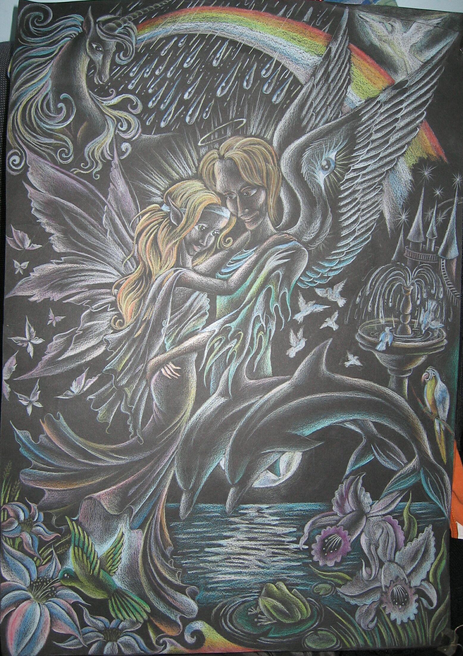 Rainbowblack by TrollGirl.deviantart.com on @deviantART