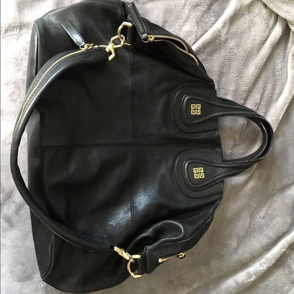 e7b286b22b55 Givenchy Nightingale Large givenchy nightingale black large with gold  hardware goatskin grained leather bag is in very good condition Ask me any  questions!