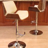 """Santi Adjustable Height Swivel Bar Stool  $134 the seat height of this bar stool ranges from 27.5""""-32.75"""". TOO HIGH FOR US"""