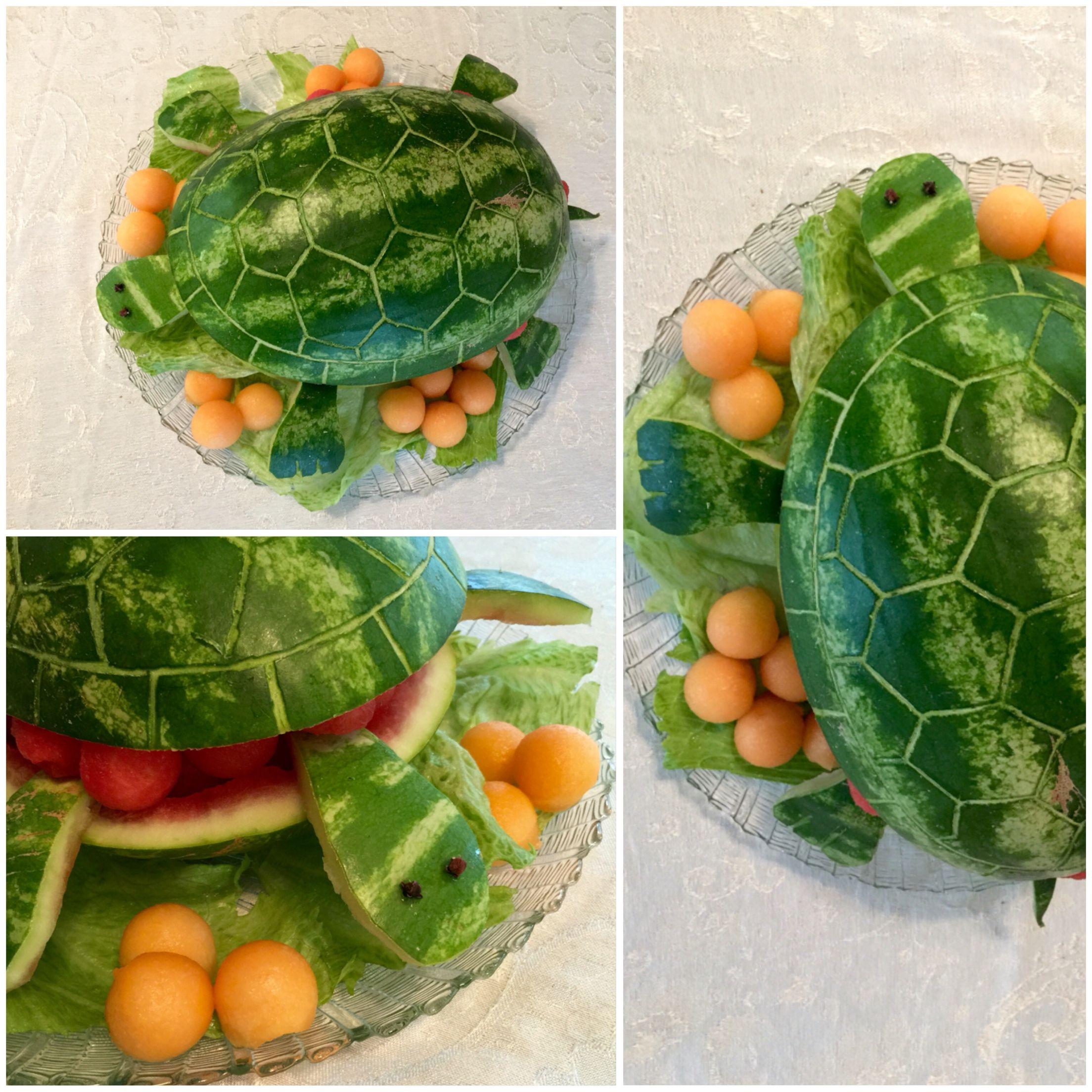 Watermelon Turtle Dessert Fruit Tortuga Hecha Con Sandia Fruta