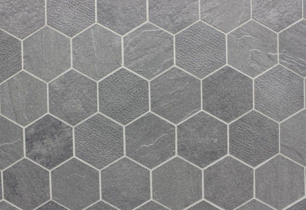grey bathroom tiles hexagon tile floor