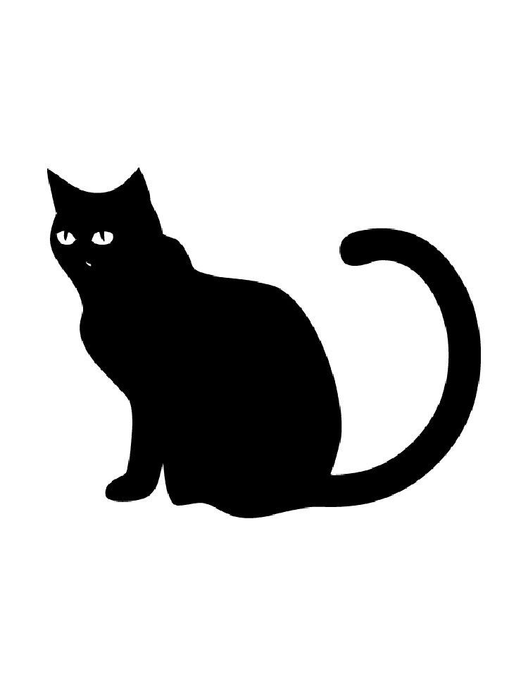 Black Cat Coloring Pages Cat Coloring Page Black Cat Printable Dog Coloring Page