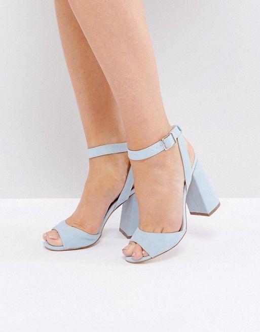 f73d205093832 ASOS HONEYMOON Wide Fit Velvet Tie Leg Sandals. New Look Suedette Ankle  Wrap Around Block Heel ...