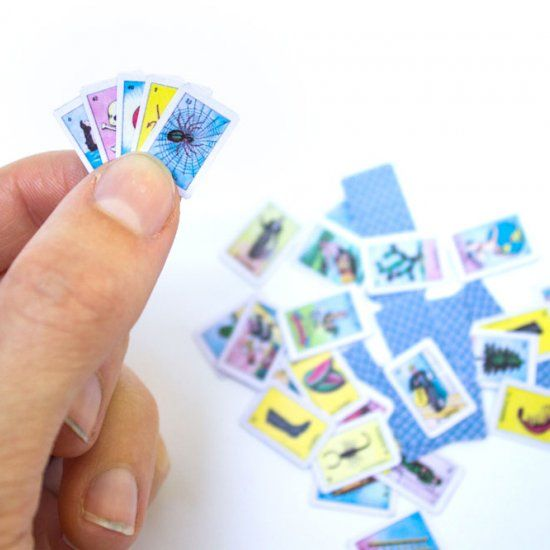 Print Your Own Miniature Loteria Cards From This Free Pdf Loteria Cards Cards Crafts