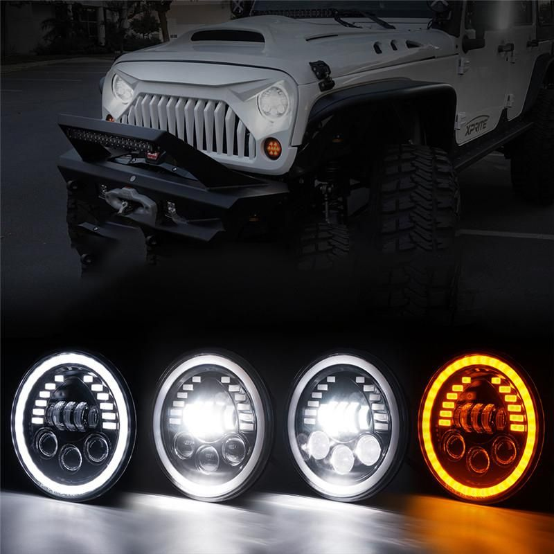 7 Prism Series 85w Led Headlights With Drl For 1997 2020 Jeep Wrangler Jk Tj Cj Lj Jl Gladiator Jt In 2020 Jeep Jeep Wrangler Jeep Wrangler Accessories