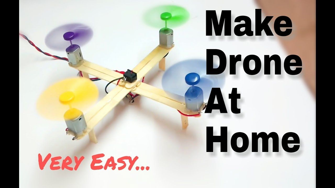 How to make drone at home quadcopter easy hello guys