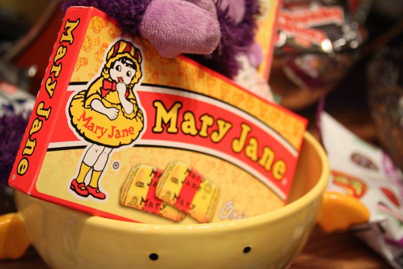 Mary Jane history, trivia and recipe.  #Recipe #Candy #MaryJane
