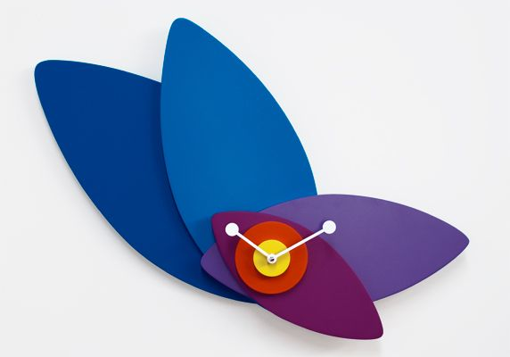 adjustable 'petali clock' from progetti comes in different color options. designed by giulia pretti