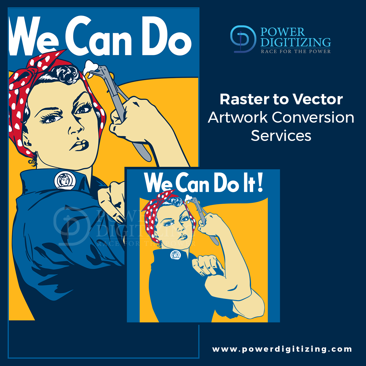 Raster to Vector Art Conversion Services by Power