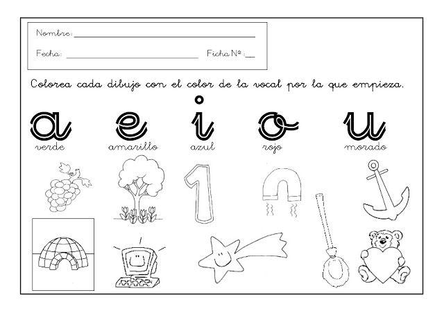 Repaso Vocales Ii Un Rincon En Casa Actividades De Letras Fichas De Vocales Actividades De Lectura Preescolar