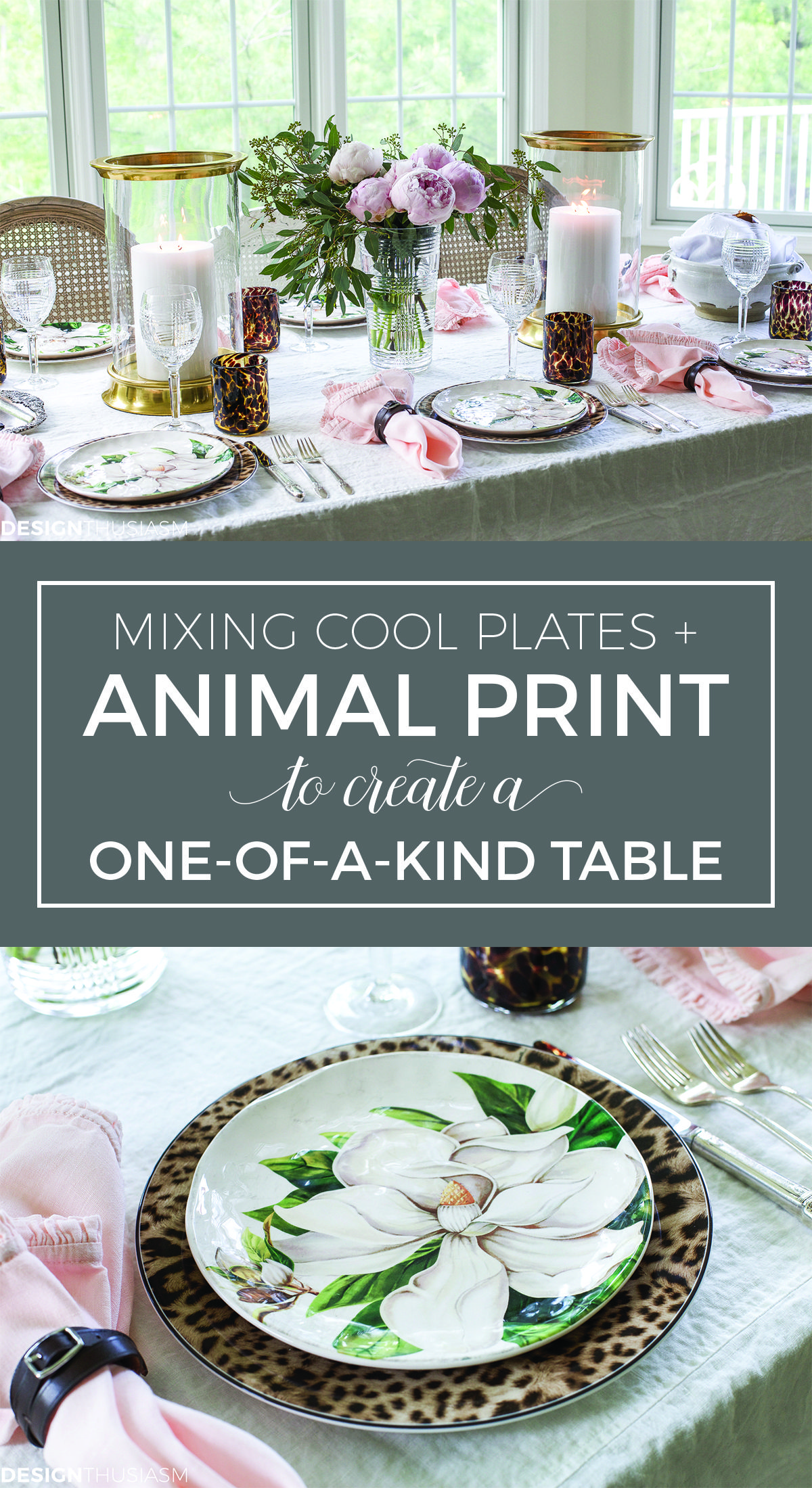 Cool Plates Mixing Animal Print And Soft Floral In A