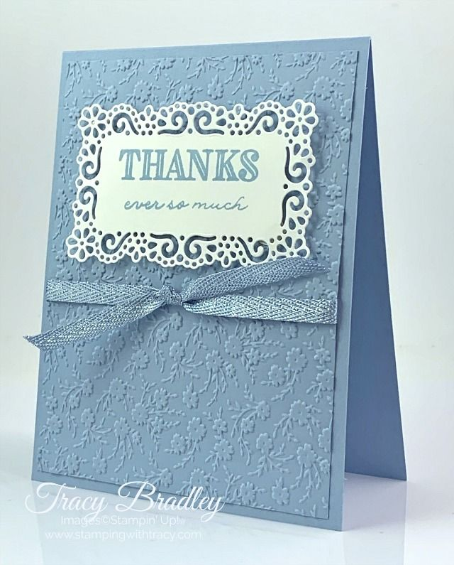 Stampin' Up! Ornate Floral Embossing Folder - Stamping With Tracy