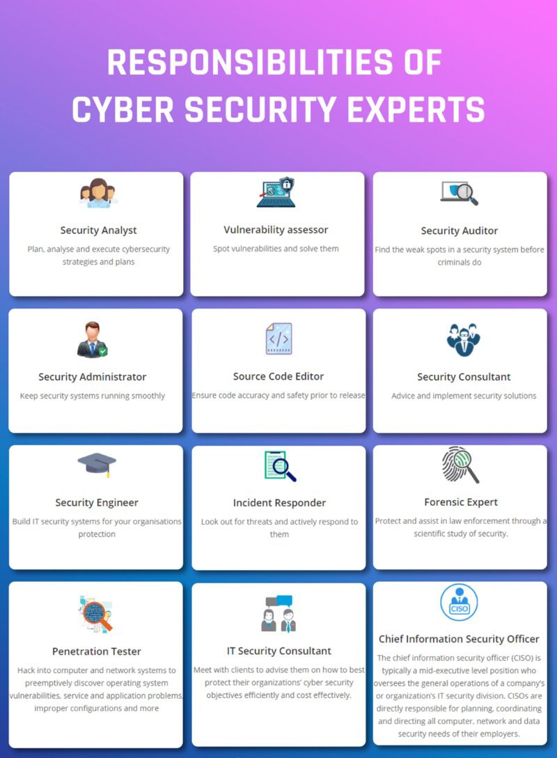Cybersecurity Responsibilities Cyber Security Security Consultant Cyber Security Career