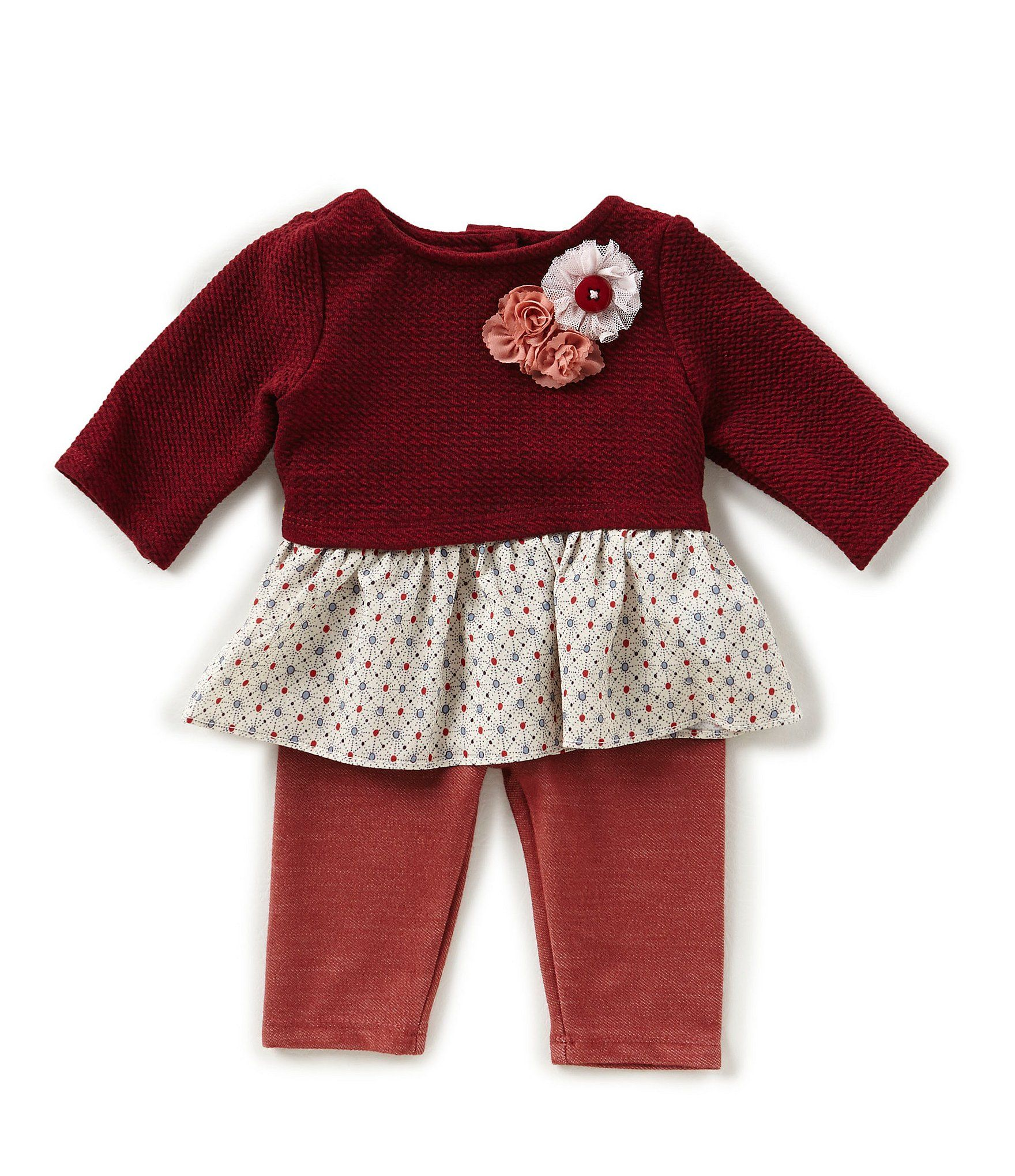 Marmellata Baby Girls Newborn 24 Months Color Block A Line Dress