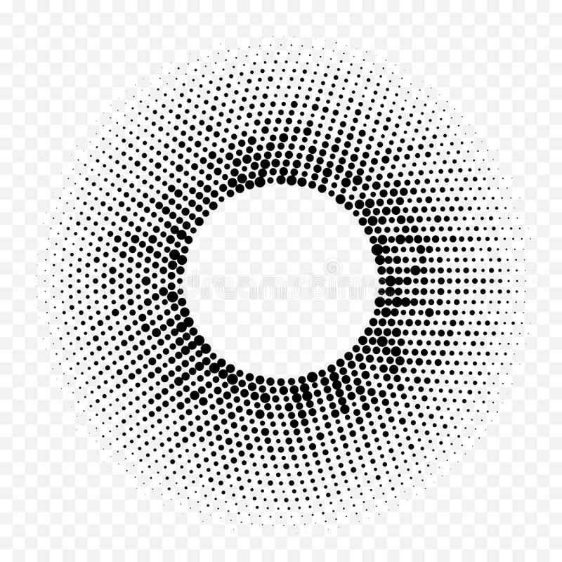 Circle Halftone Geometric Dotted Gradient Pattern Vector Abstract White Minimal Texture Background Stock Illustration Gradient Design Geometric Halftone