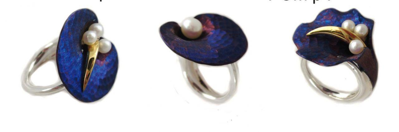Pearl rings by Adam Wyspianski