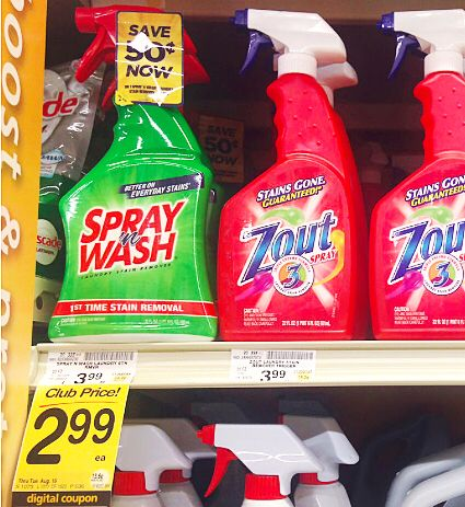 Spray N Wash As Low As 0 49 At Safeway Spray Wash Stain Remover