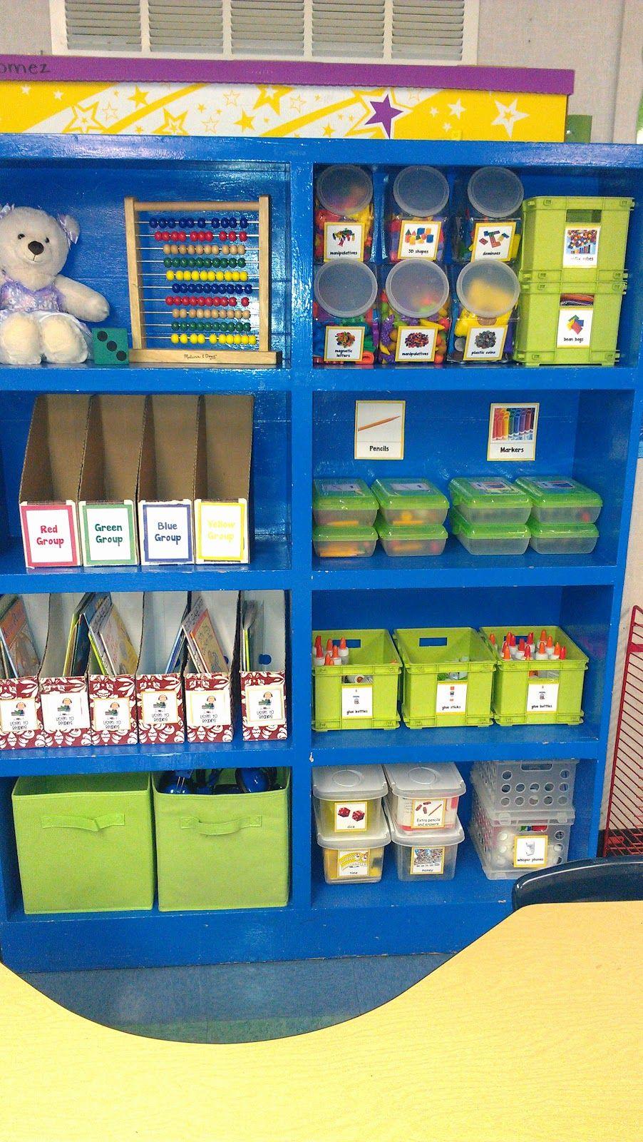 Classroom Management Ideas For Preschool : Super cute cheery and beautifully organized kindergarten