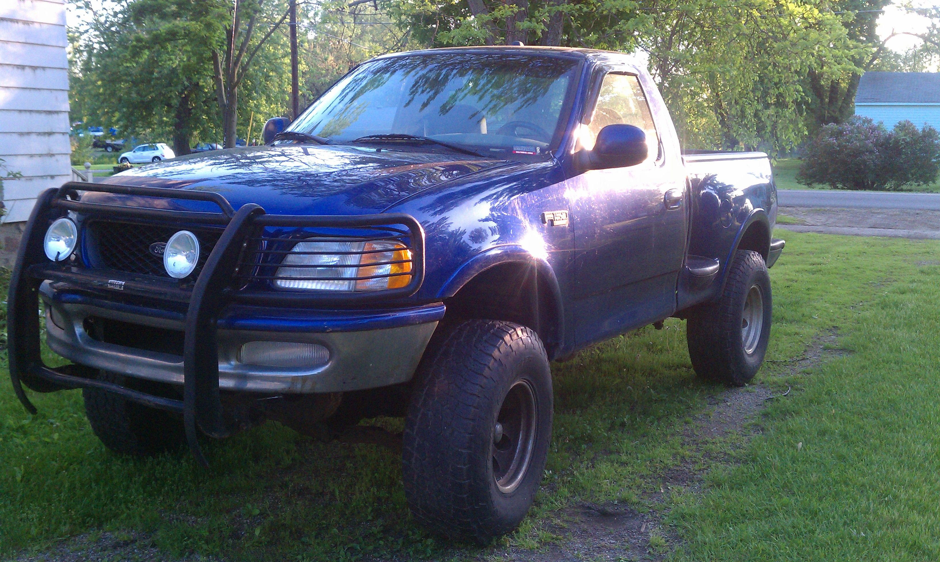 Blue color lifted ford f 150