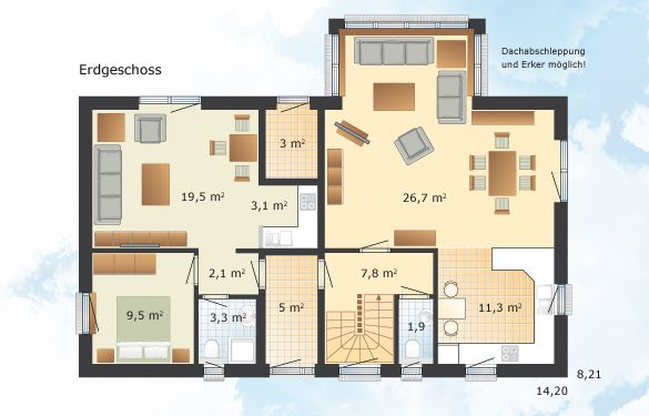 Oslo Hauser Und Grundrisse Fertighaus Und Energiesparhaus Danhaus Das 1 Liter Haus Bauplan Haus Haus Grundriss Danhaus