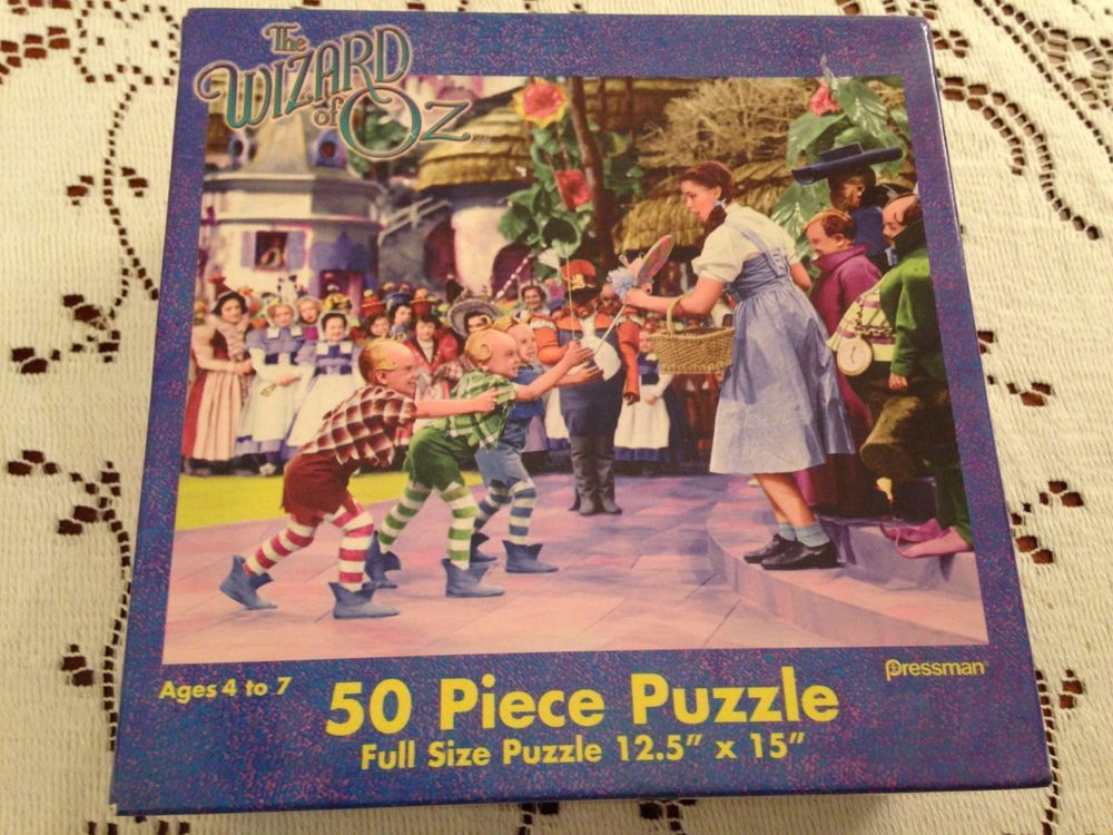 the wizard of oz jigsaw puzzle dorothy 50 piece full size complete