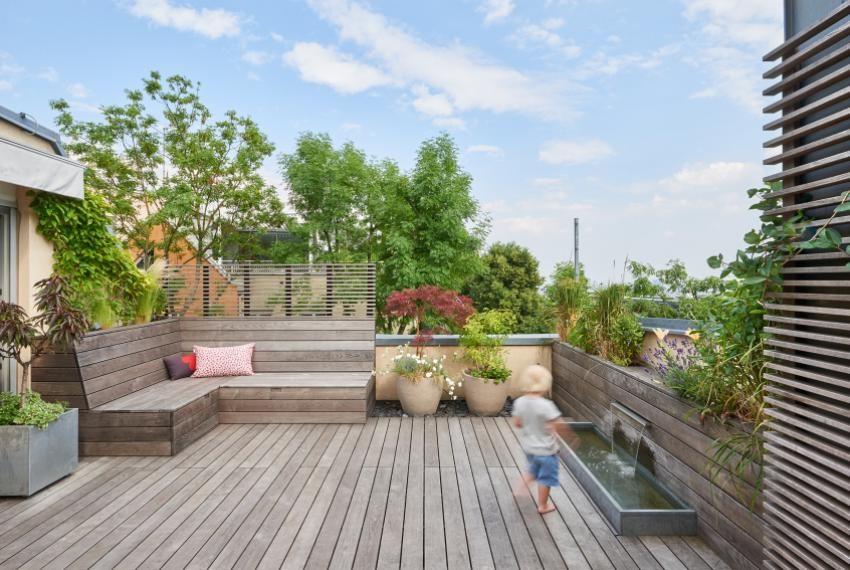 ausstattung Dachterrassengestaltung, Dachterrasse