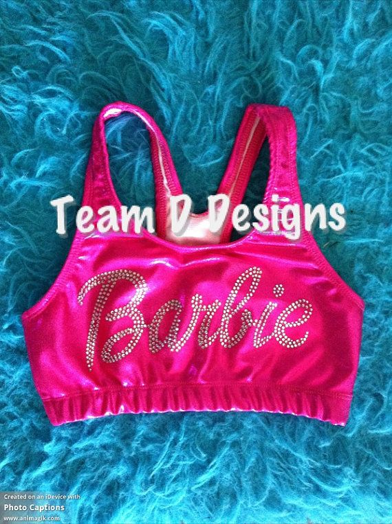 e04feb6d3f Metallic Bra that says BARBIE! Select your size and bra color and please  please please leave a comment specifying if you want the rhinestones or
