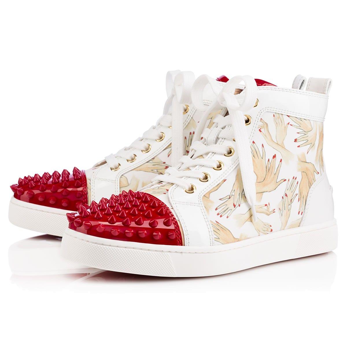 Lou Spikes Womens White Cotton