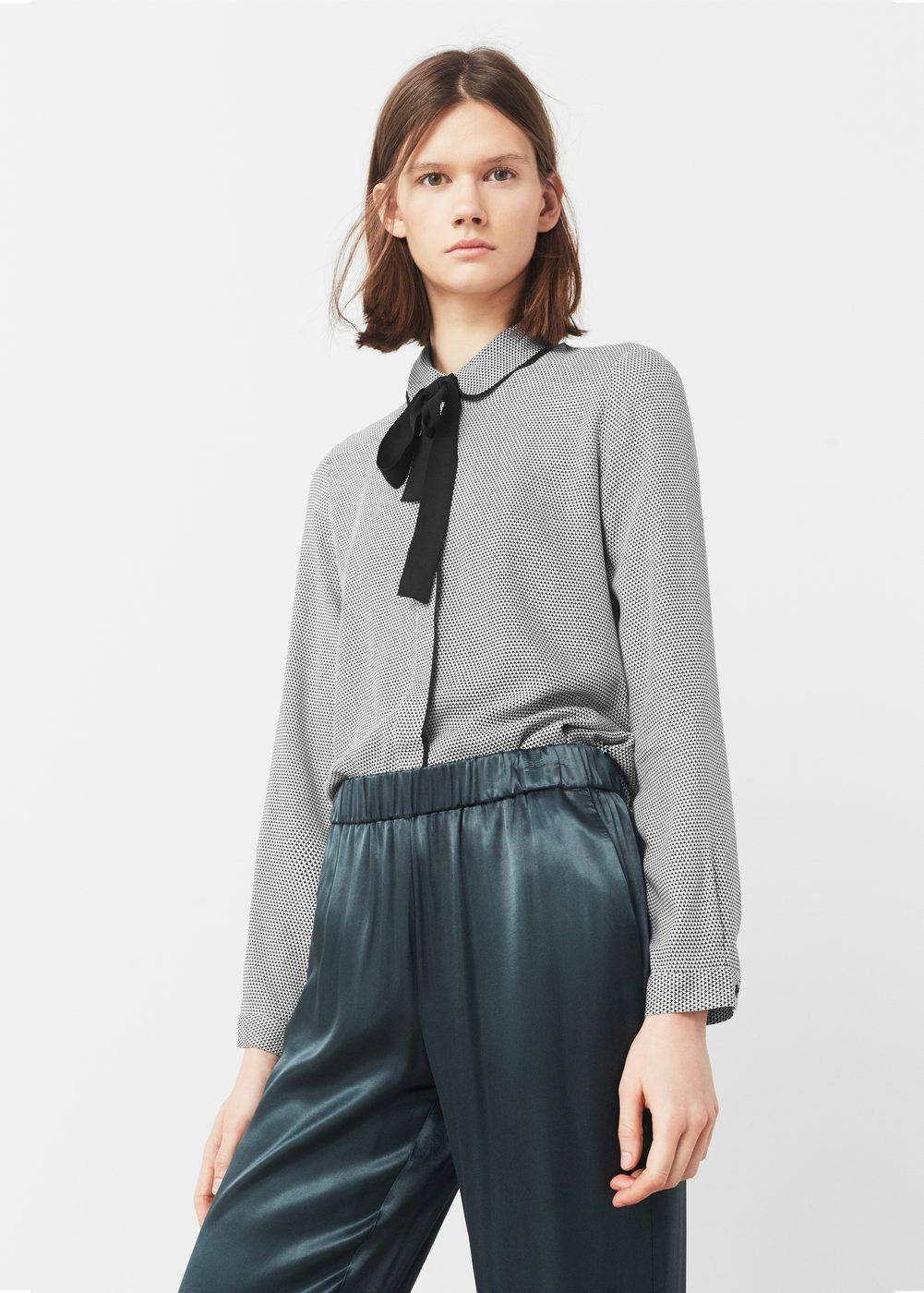 Blusa laço gola - Camisas de Mulher | MANGO Portugal