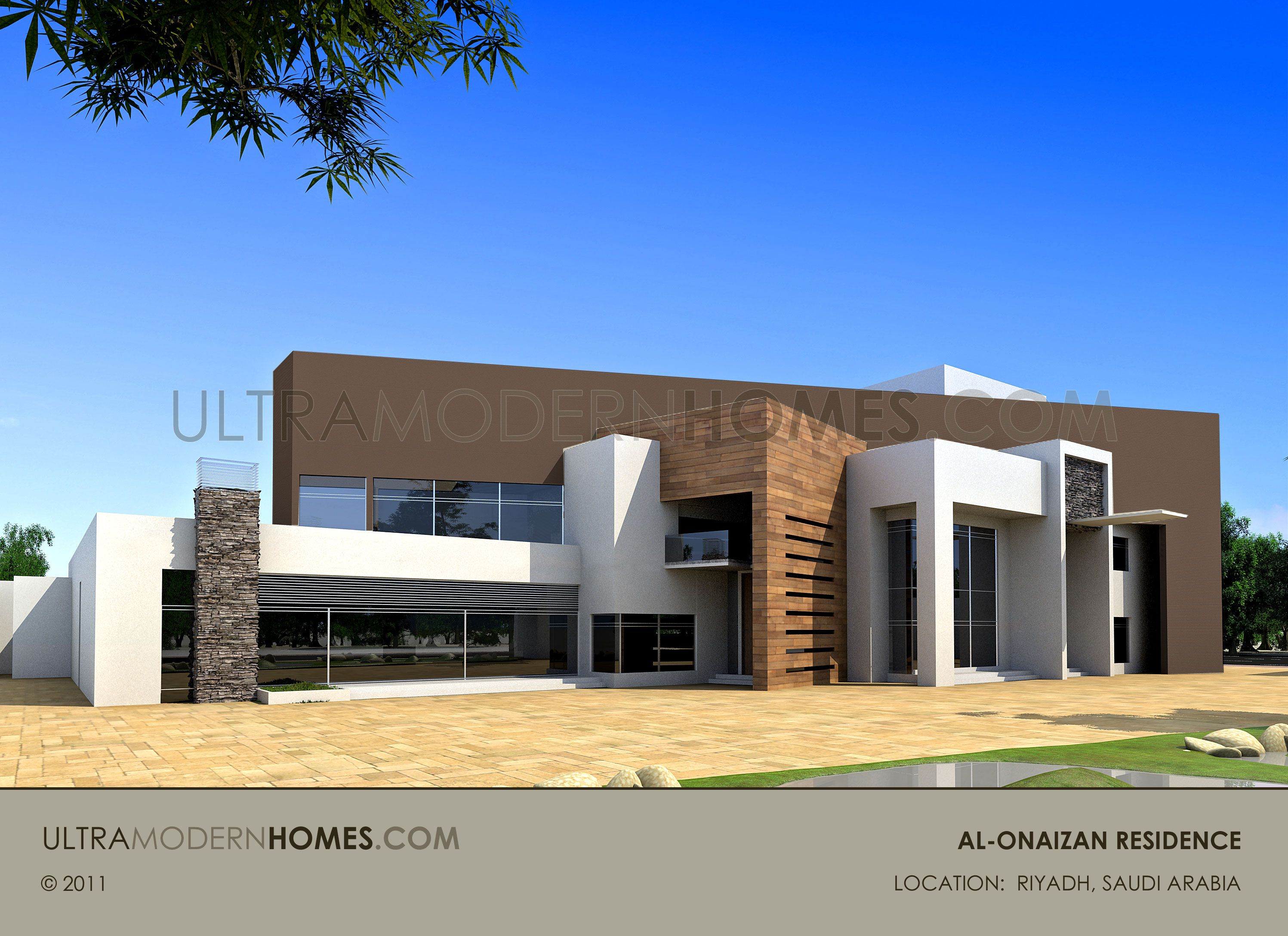 Luxury ultra modern custom home design in riyadh saudi for Custom house design