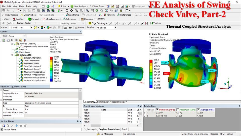 This video present the FEA analysis of swing check valve