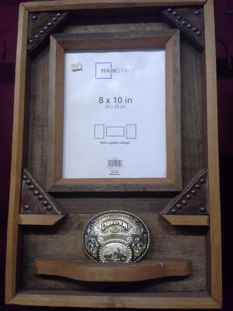 how to build a belt buckle display case