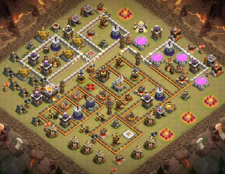 Anti Everything Coc Th11 War Base 2019 9