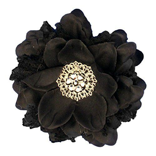 Black flower you can find more details by visiting the image link black flower add some flower power to your head or band with this black silk flower mightylinksfo