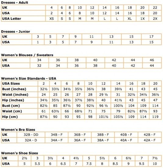 Uk Women Shoe Size Calculator
