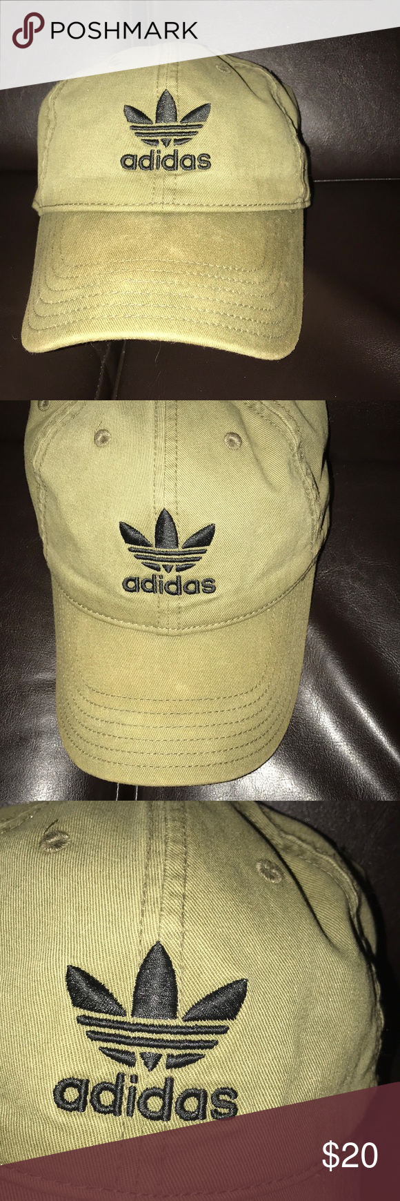 d3a027753a6ec ADIDAS HAT Army green and black adidas hat adidas Accessories Hats