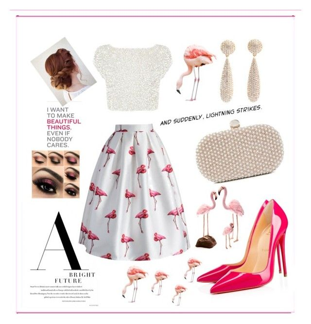 """""""Flamingos cutie look"""" by girlsbossbio on Polyvore featuring Christian Louboutin, Coast, Chicwish, Santi and Hansa"""